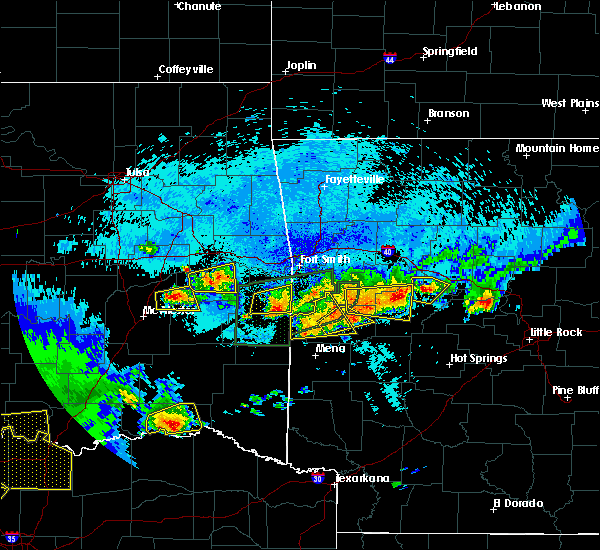 Radar Image for Severe Thunderstorms near Mansfield, AR at 5/22/2020 11:27 PM CDT