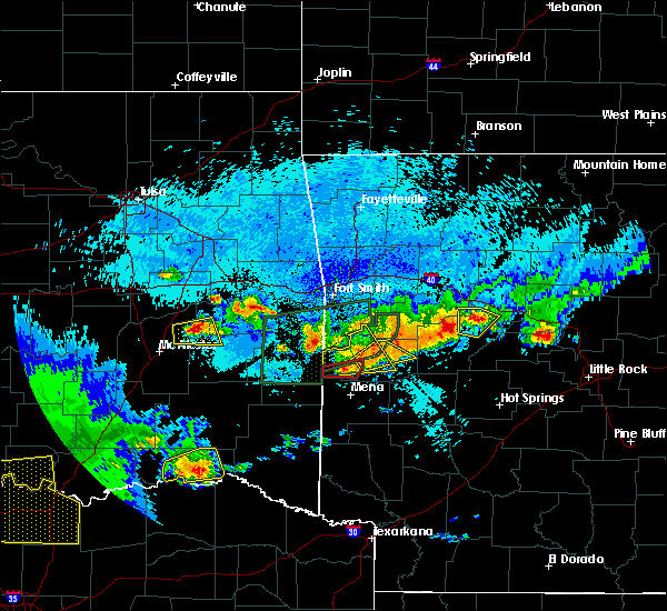 Radar Image for Severe Thunderstorms near Danville, AR at 5/22/2020 11:39 PM CDT