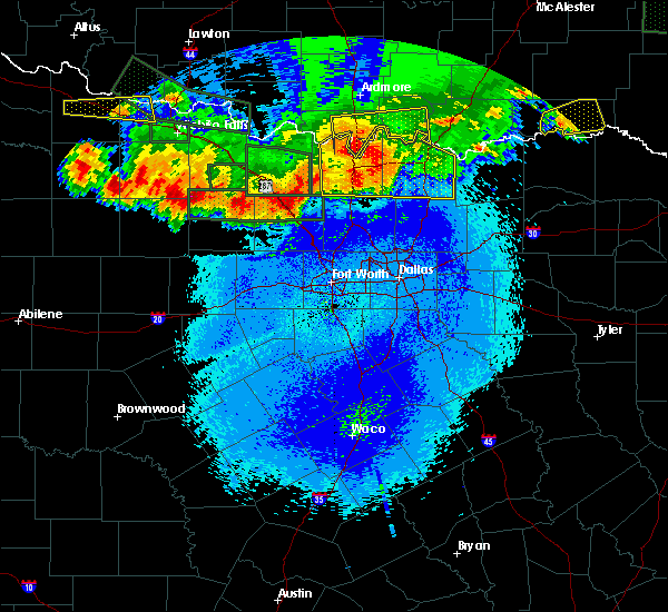 Radar Image for Severe Thunderstorms near Bryson, TX at 5/22/2020 11:44 PM CDT