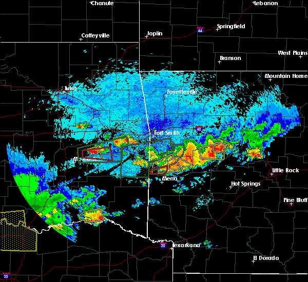 Radar Image for Severe Thunderstorms near Quinton, OK at 5/22/2020 11:50 PM CDT