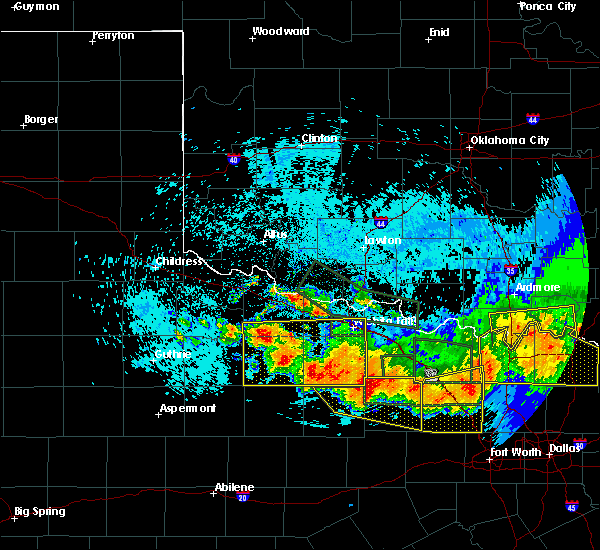 Radar Image for Severe Thunderstorms near Electra, TX at 5/22/2020 11:52 PM CDT