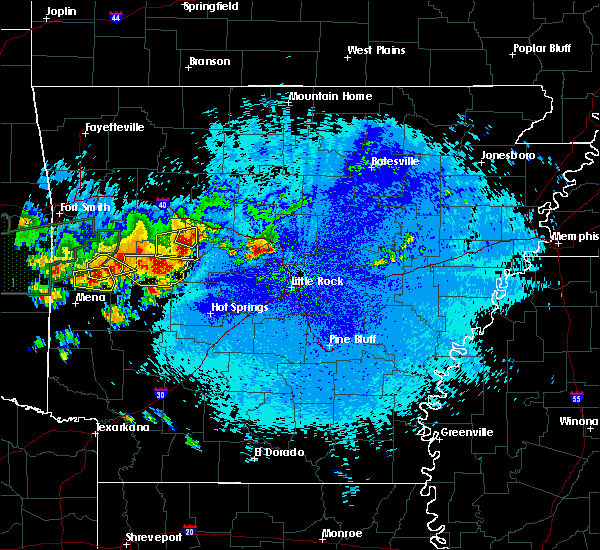 Radar Image for Severe Thunderstorms near Danville, AR at 5/22/2020 11:59 PM CDT