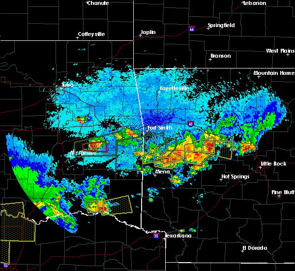 Radar Image for Severe Thunderstorms near Mansfield, AR at 5/23/2020 12:01 AM CDT
