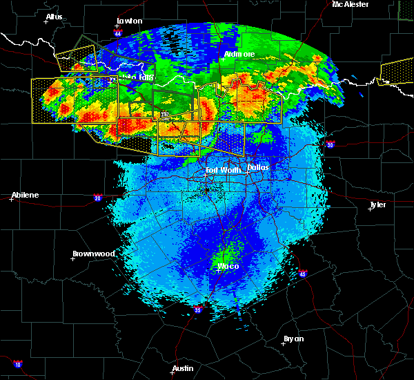 Radar Image for Severe Thunderstorms near Bee, OK at 5/23/2020 12:04 AM CDT