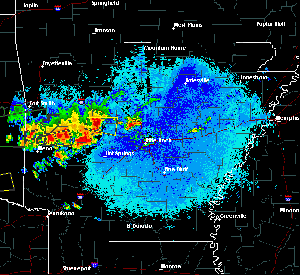 Radar Image for Severe Thunderstorms near Plainview, AR at 5/23/2020 12:10 AM CDT