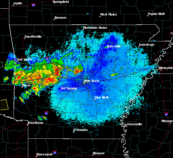 Radar Image for Severe Thunderstorms near Plainview, AR at 5/23/2020 12:14 AM CDT