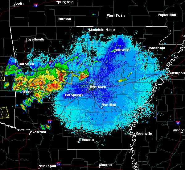 Radar Image for Severe Thunderstorms near Ola, AR at 5/23/2020 12:25 AM CDT