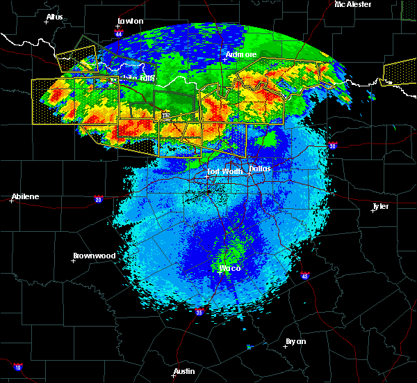 Radar Image for Severe Thunderstorms near Bryson, TX at 5/23/2020 12:26 AM CDT