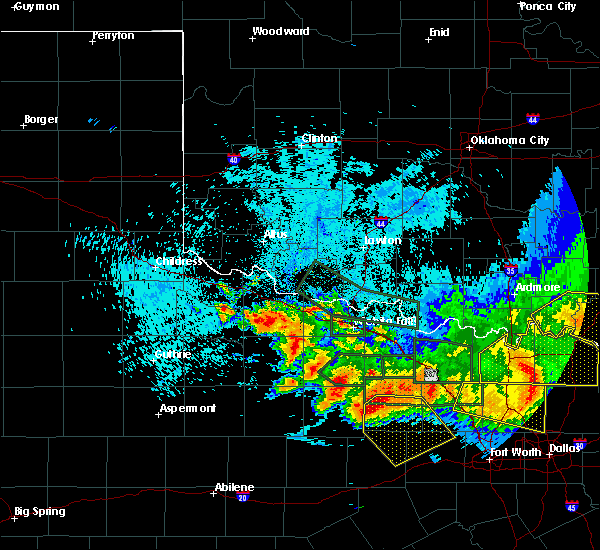 Radar Image for Severe Thunderstorms near Scotland, TX at 5/23/2020 12:34 AM CDT