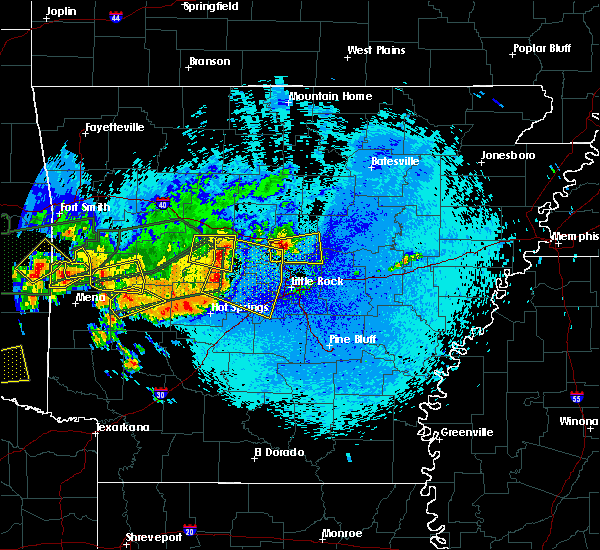 Radar Image for Severe Thunderstorms near Little Rock, AR at 5/23/2020 12:44 AM CDT