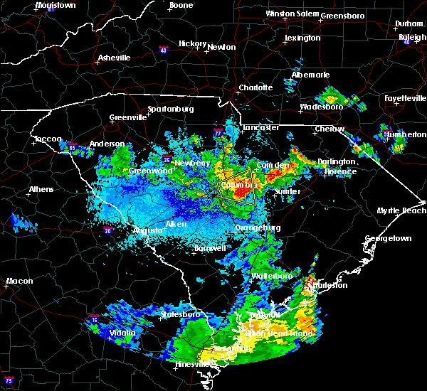 Radar Image for Severe Thunderstorms near Rembert, SC at 5/23/2020 1:43 AM EDT