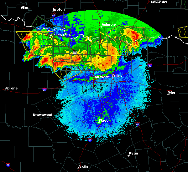 Radar Image for Severe Thunderstorms near Bee, OK at 5/23/2020 12:51 AM CDT