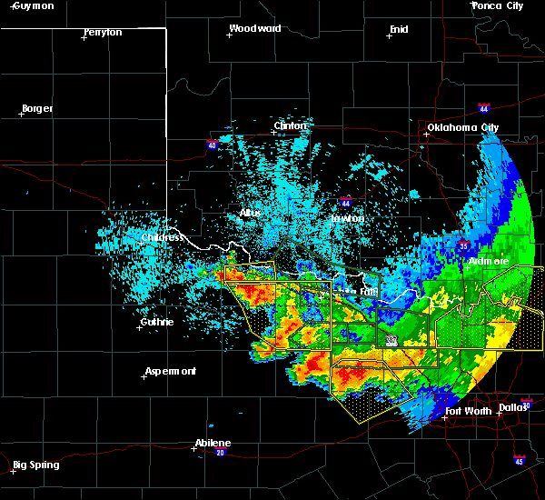 Radar Image for Severe Thunderstorms near Davidson, OK at 5/23/2020 1:00 AM CDT