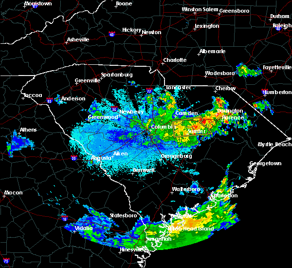 Radar Image for Severe Thunderstorms near Stateburg, SC at 5/23/2020 2:06 AM EDT