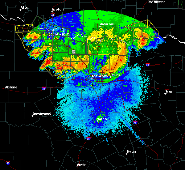 Radar Image for Severe Thunderstorms near Preston, TX at 5/23/2020 1:28 AM CDT