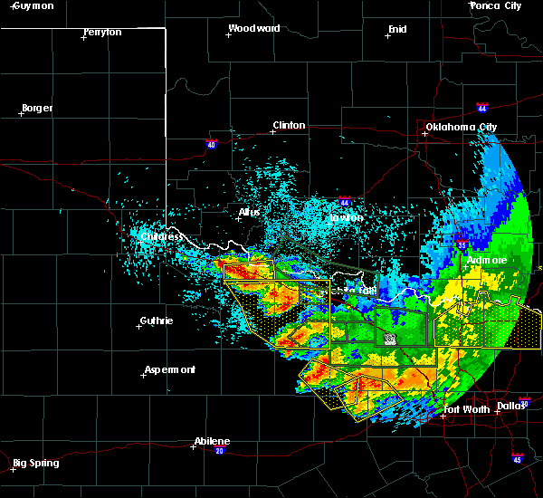 Radar Image for Severe Thunderstorms near Iowa Park, TX at 5/23/2020 1:34 AM CDT