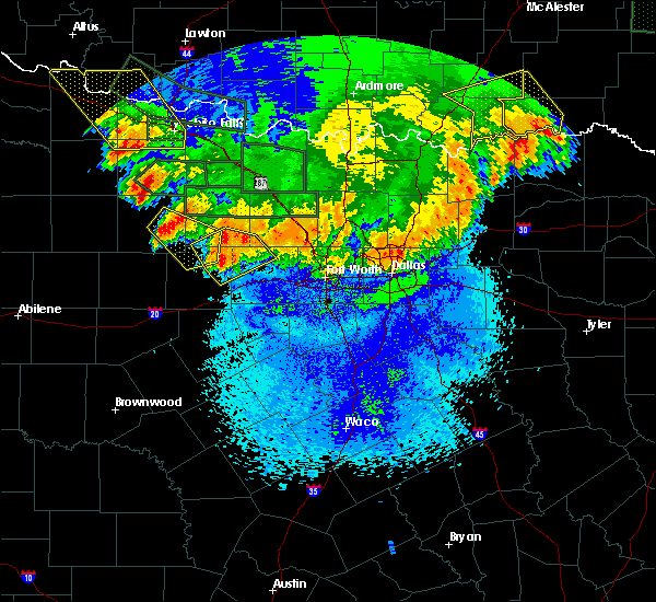 Radar Image for Severe Thunderstorms near Mineral Wells, TX at 5/23/2020 1:41 AM CDT