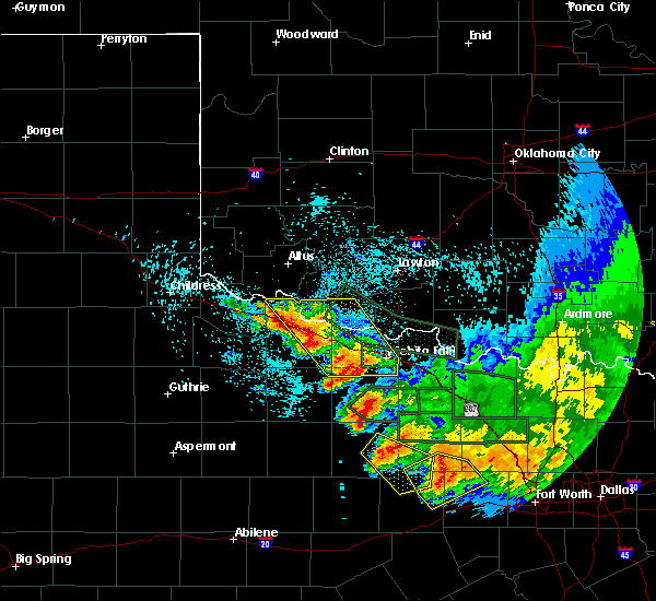 Radar Image for Severe Thunderstorms near Scotland, TX at 5/23/2020 1:44 AM CDT