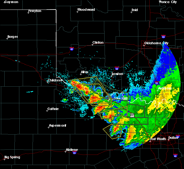 Radar Image for Severe Thunderstorms near Scotland, TX at 5/23/2020 2:23 AM CDT