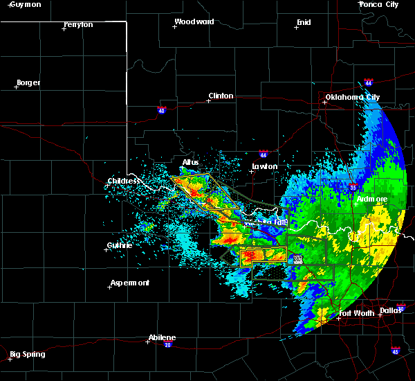 Radar Image for Severe Thunderstorms near Windthorst, TX at 5/23/2020 3:07 AM CDT