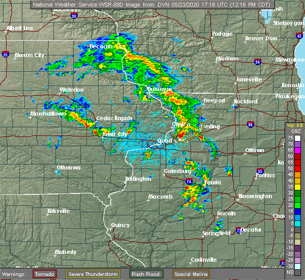 Radar Image for Severe Thunderstorms near Iowa City, IA at 5/23/2020 12:21 PM CDT