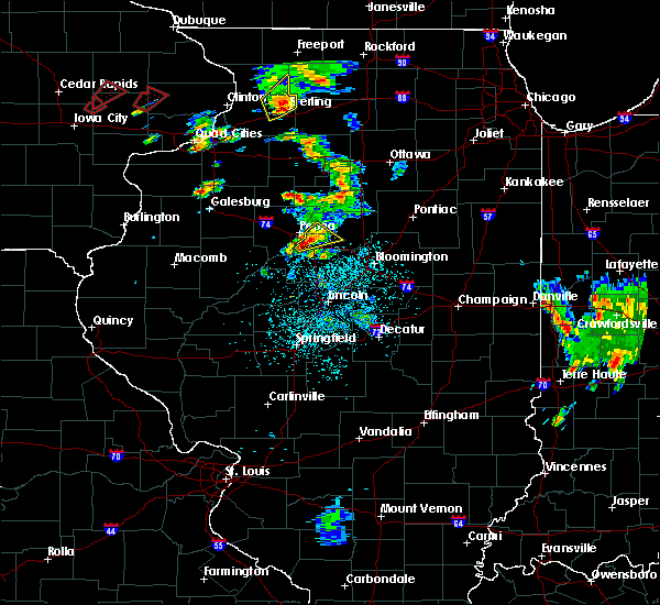Radar Image for Severe Thunderstorms near East Peoria, IL at 5/23/2020 12:56 PM CDT
