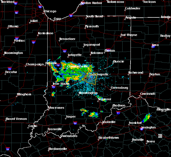 Radar Image for Severe Thunderstorms near Indianapolis, IN at 5/23/2020 2:09 PM EDT