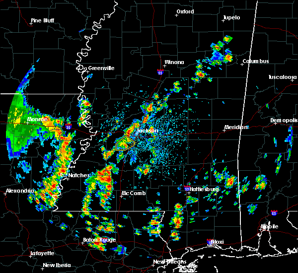 Radar Image for Severe Thunderstorms near Flowood, MS at 5/23/2020 1:38 PM CDT