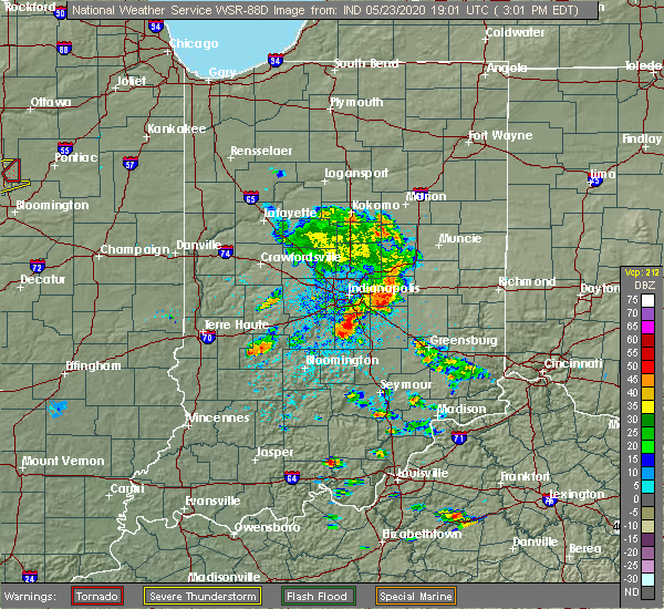 Radar Image for Severe Thunderstorms near Greenfield, IN at 5/23/2020 3:09 PM EDT
