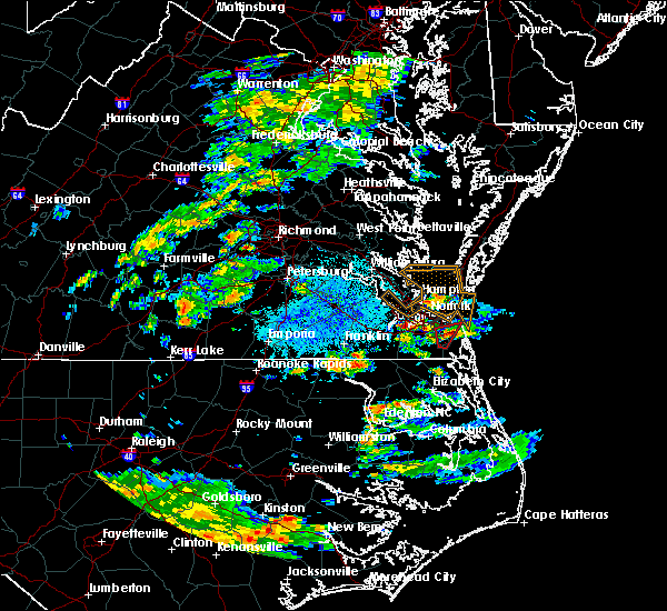 Radar Image for Severe Thunderstorms near Chesapeake, VA at 6/27/2015 2:34 PM EDT