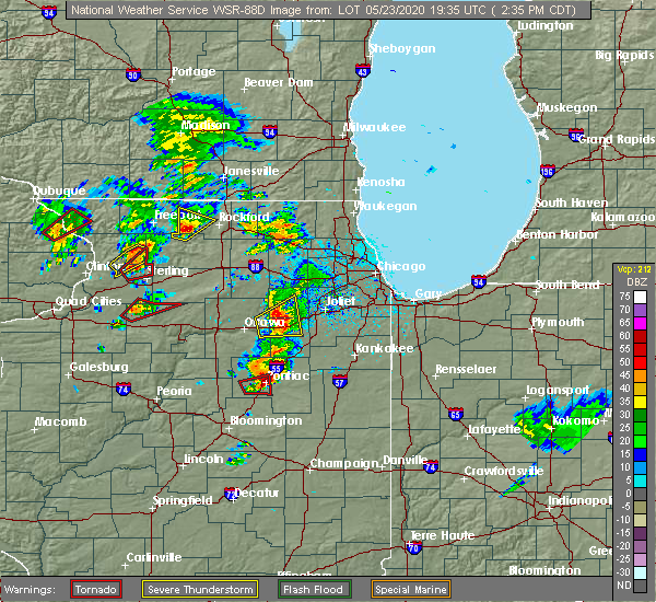Radar Image for Severe Thunderstorms near Saunemin, IL at 5/23/2020 2:40 PM CDT