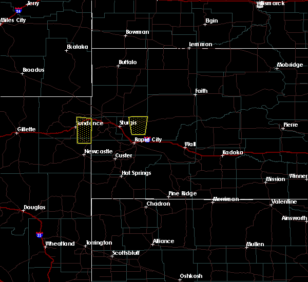 Radar Image for Severe Thunderstorms near Newell, SD at 5/23/2020 1:43 PM MDT