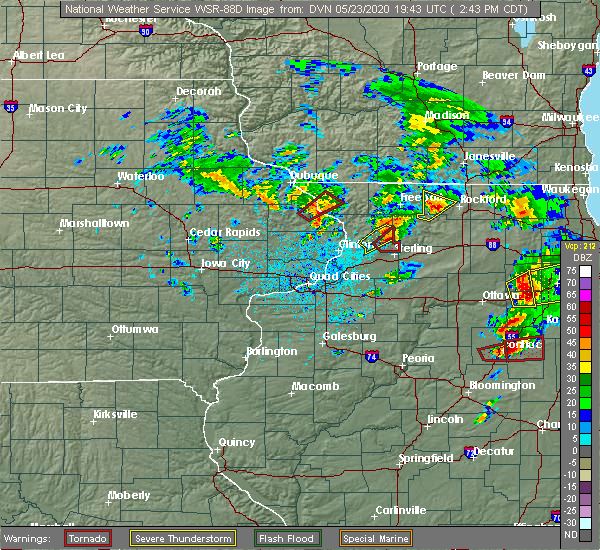 Radar Image for Severe Thunderstorms near Elizabeth, IL at 5/23/2020 2:46 PM CDT