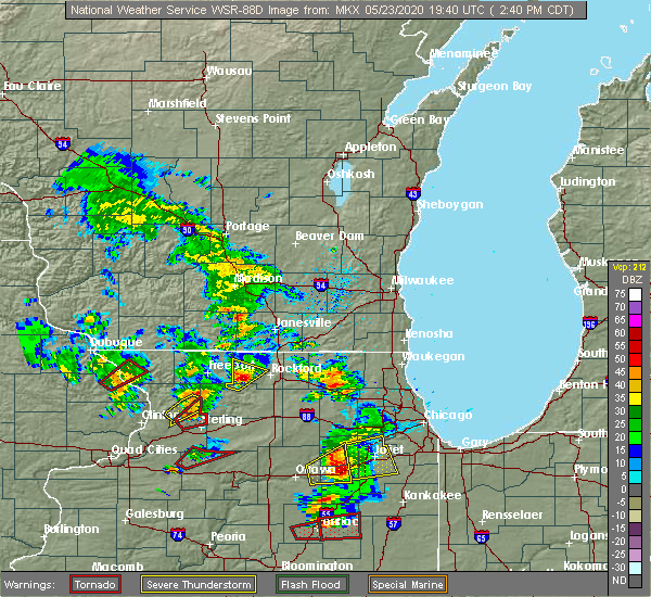 Radar Image for Severe Thunderstorms near Rockford, IL at 5/23/2020 2:49 PM CDT