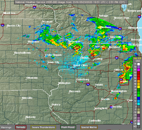 Radar Image for Severe Thunderstorms near Coleta, IL at 5/23/2020 2:54 PM CDT