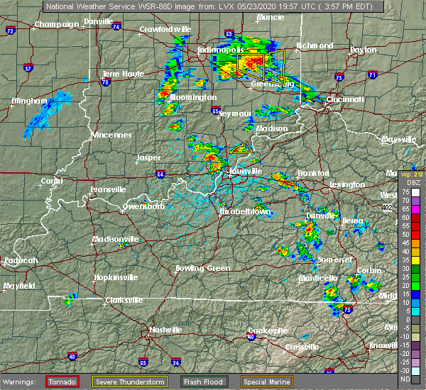 Radar Image for Severe Thunderstorms near New Washington, IN at 5/23/2020 3:58 PM EDT