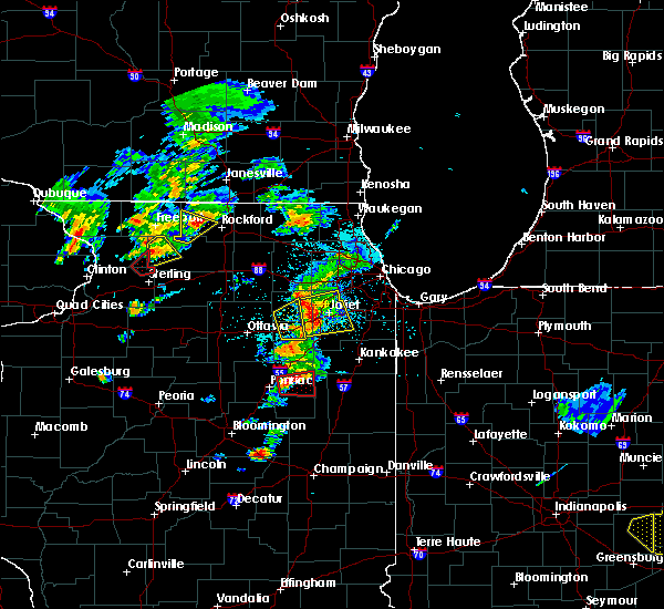 Radar Image for Severe Thunderstorms near Morris, IL at 5/23/2020 3:09 PM CDT
