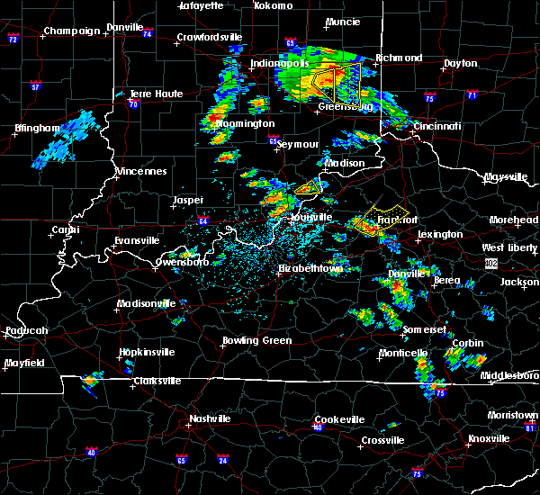 Radar Image for Severe Thunderstorms near Frankfort, KY at 5/23/2020 4:09 PM EDT