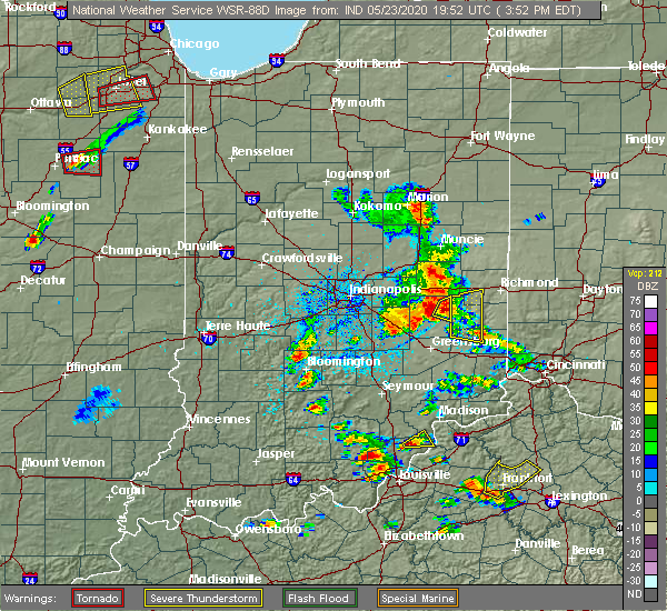 Radar Image for Severe Thunderstorms near Rushville, IN at 5/23/2020 4:10 PM EDT