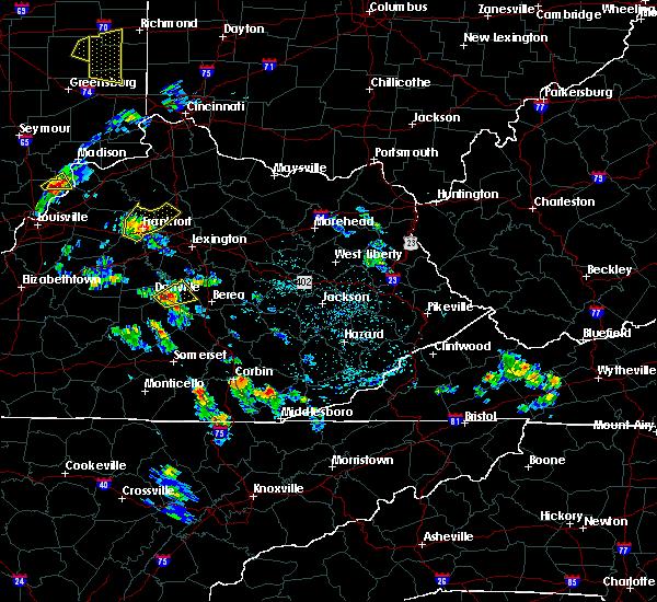 Radar Image for Severe Thunderstorms near Danville, KY at 5/23/2020 4:13 PM EDT