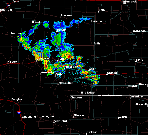 Radar Image for Severe Thunderstorms near Blackhawk, SD at 5/23/2020 2:24 PM MDT