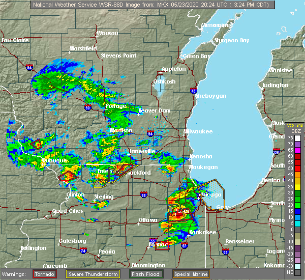 Radar Image for Severe Thunderstorms near Footville, WI at 5/23/2020 3:26 PM CDT