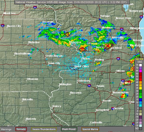Radar Image for Severe Thunderstorms near Elizabeth, IL at 5/23/2020 3:27 PM CDT