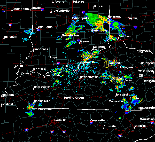 Radar Image for Severe Thunderstorms near Bedford, KY at 5/23/2020 4:35 PM EDT