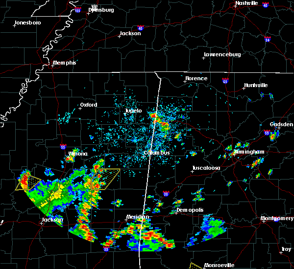 Radar Image for Severe Thunderstorms near Noxapater, MS at 5/23/2020 3:35 PM CDT