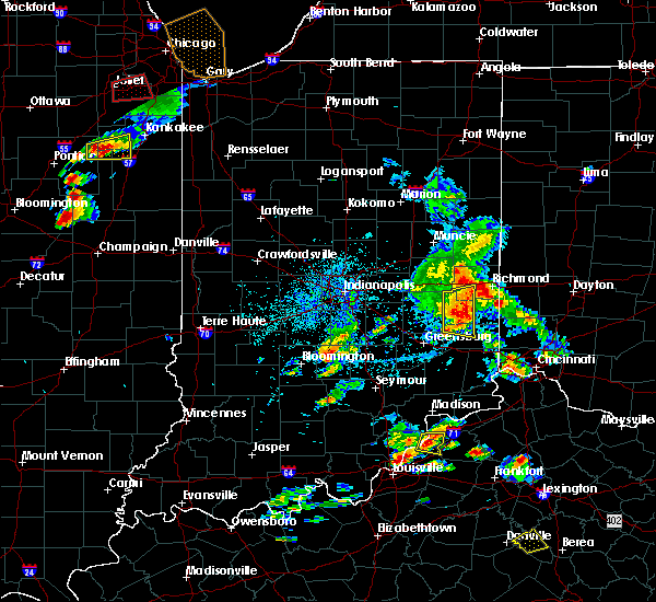 Radar Image for Severe Thunderstorms near Mount Auburn, IN at 5/23/2020 4:39 PM EDT