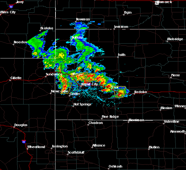 Radar Image for Severe Thunderstorms near Cottonwood, SD at 5/23/2020 2:51 PM MDT