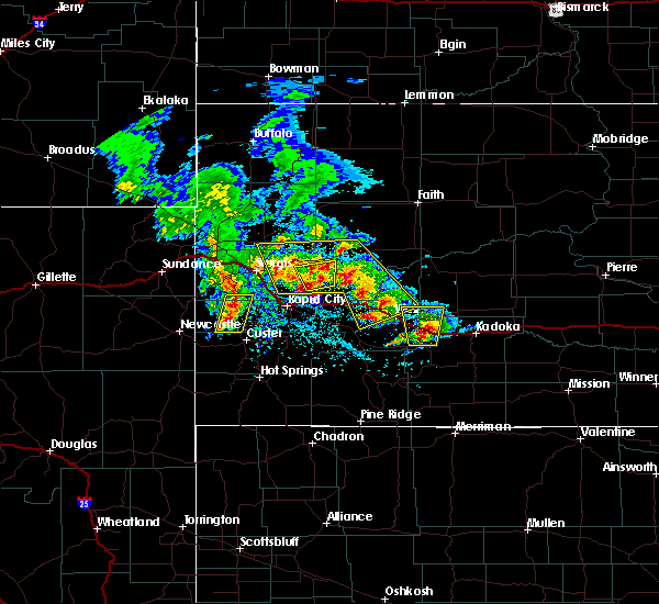 Radar Image for Severe Thunderstorms near Wall, SD at 5/23/2020 2:57 PM MDT
