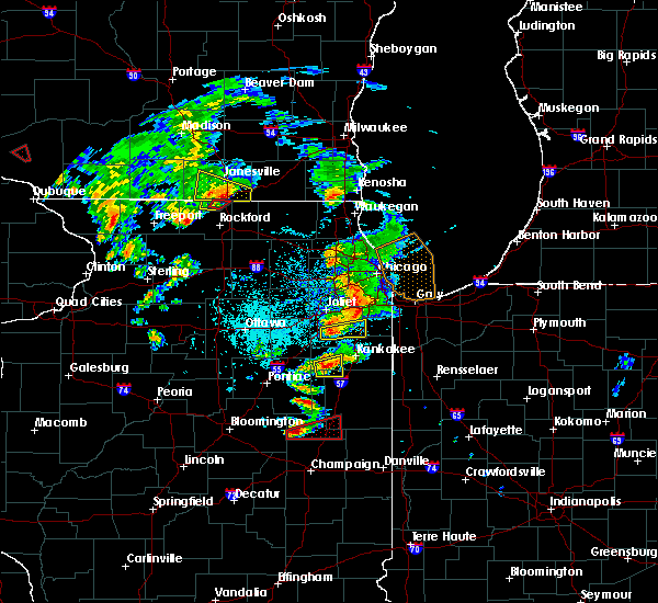 Radar Image for Severe Thunderstorms near Oak Forest, IL at 5/23/2020 3:58 PM CDT
