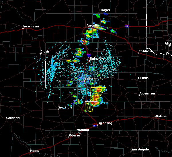 Radar Image for Severe Thunderstorms near Post, TX at 5/23/2020 4:08 PM CDT